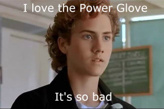 Lucas shows off his Power Glove skills in The Wizard.