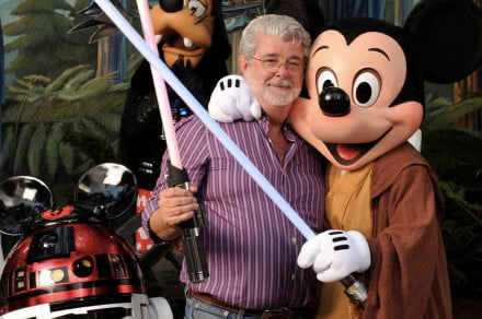 George Lucas with Disney characters