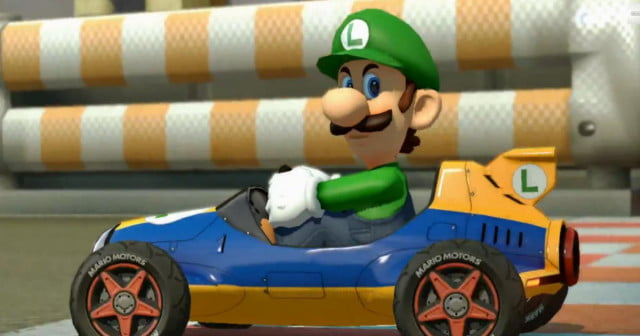 luigi ice cold japanese commercial mario kart  death stare