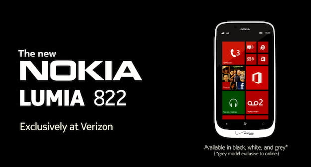 Lumia 822 Verizon