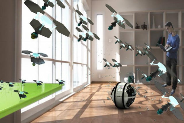 awesome tech you cant buy yet october  mab sphere robotic house cleaning swarm