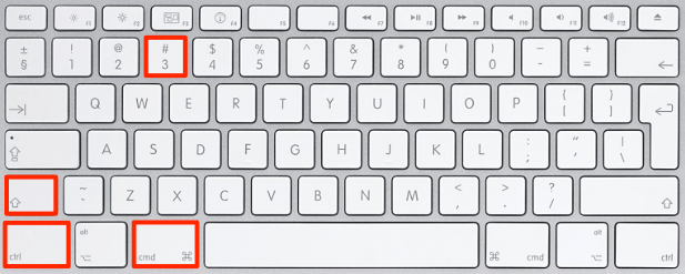 Screenshot keyboard shortcut 3