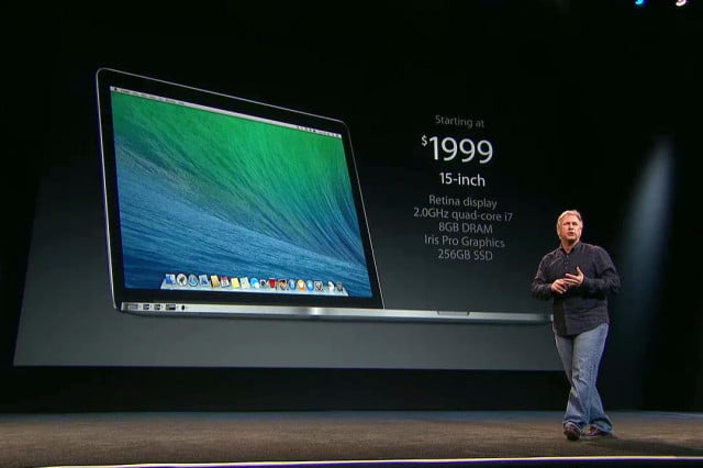 apple macbook pro announcements  inch price