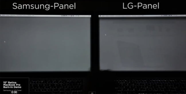 macbook pro retina screen ghosting