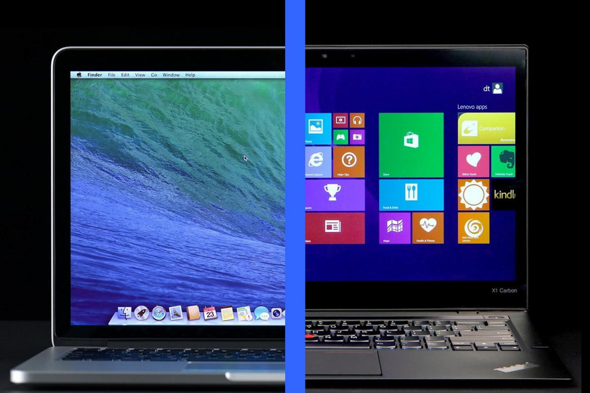 apple macbook pro  retina vs lenovo thinkpad x carbon macbookprovslenovothinkpadx