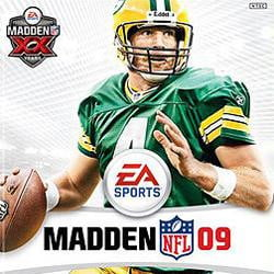 madden 09 brett favre game box