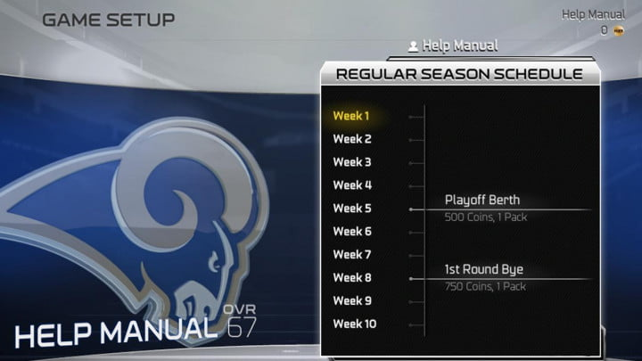 Madden NFL 25 Playbook Playbook 5 Madden Ultimate Team seasons schedule