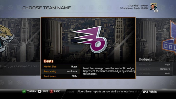 madden nfl  review playbooks and connected franchise choose team name