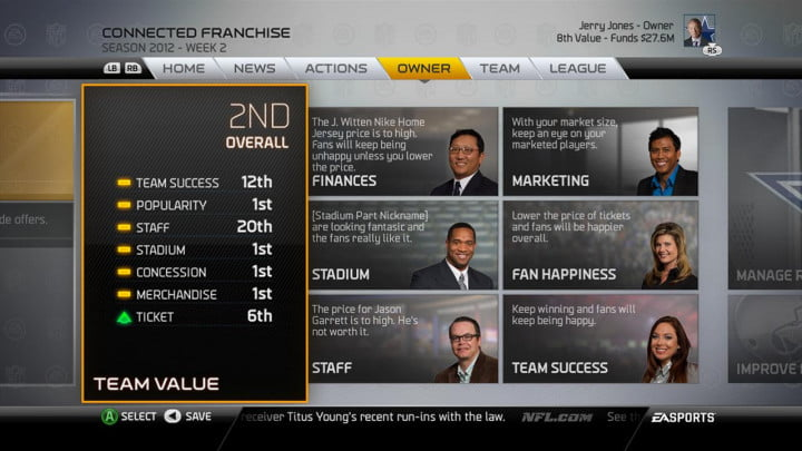 madden nfl  review playbooks and connected franchise owner