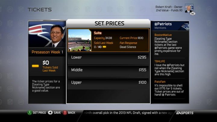 madden nfl  review playbooks and connected franchise set prices