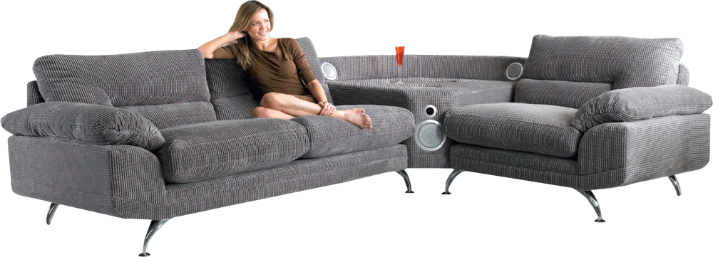 sound sofa is a bizarre piece of furniture with a built in. Black Bedroom Furniture Sets. Home Design Ideas