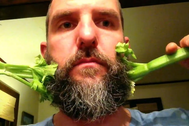 man with magic beard and stop motion app creates amusing viral video