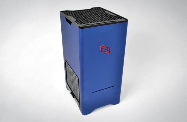 Maingear F131 review front angle desktop gaming tower pc