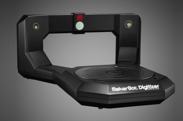 makerbots digitizer  d scanner now available for pre order makerbot