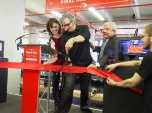 Makerbot factory ribbon cutting