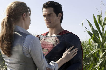 Man Of Steel Amy Adams Lois Lane and Henry Cavill Kal_El