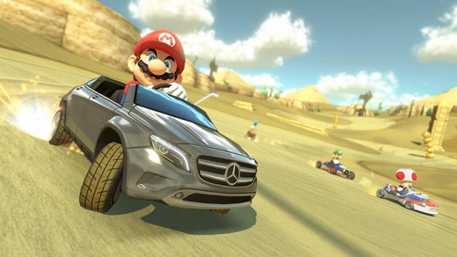 mario kart  content partnership mercedes results amazing commercial dlc