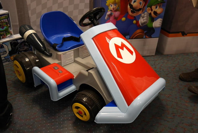 ever wanted drive real life mario kart well now can youre child size ride on