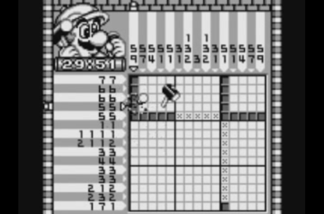 best game boy games mario s picross screen