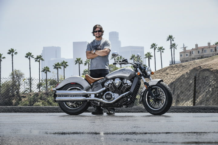 Mark Wahlberg and his Indian motorcycle