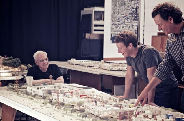 mark zuckerberg meeting frank gehry