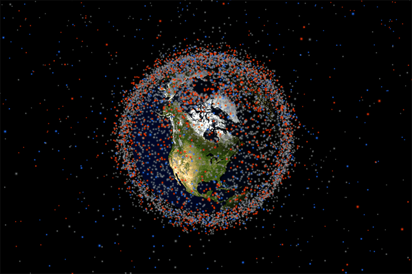 A real-time look at objects currently orbiting Earth