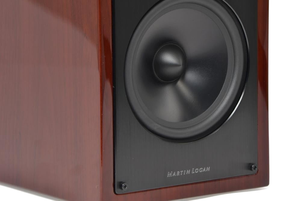 martin-logan-motion-lx16-review-design-dark-cherry-speaker-close-up