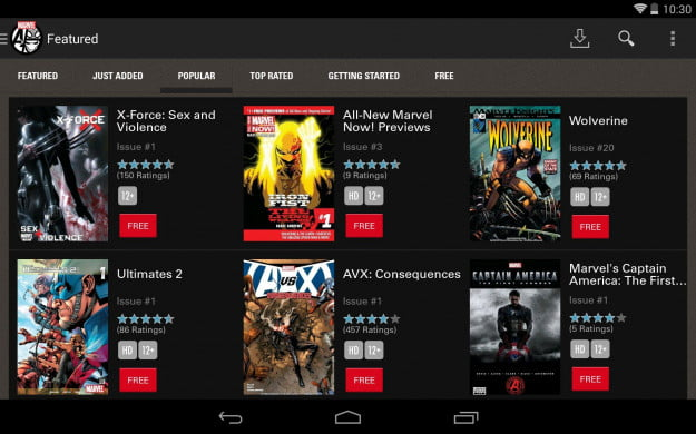 Marvel_Comics_Android_tablet_app_screenshot