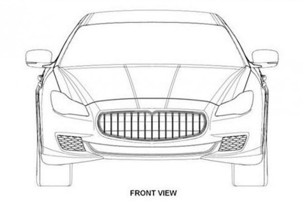 2014 Maserati Quattroporte leaked patent drawings front