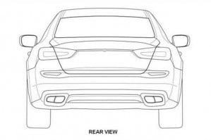 2014 Maserati Quattroporte leaked patent drawings rear