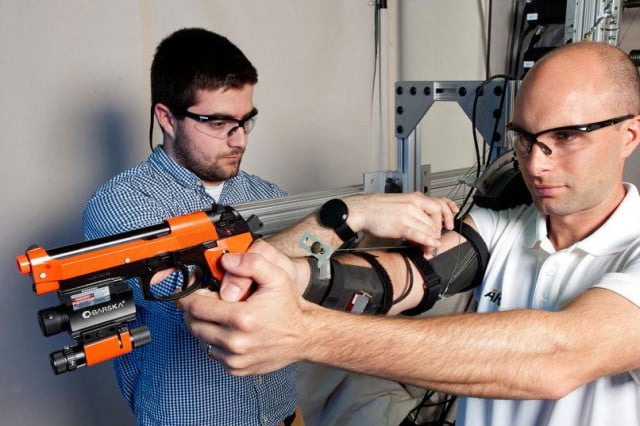 the army is developing an arm mounted exoskeleton that helps soldiers aim maxfas