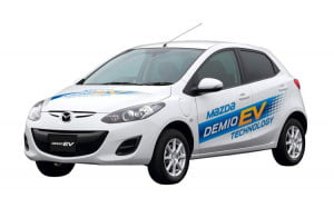 Mazda Demio (Mazda 2) EV front three-quarter view