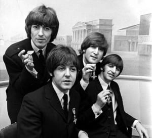 Beatles (MBE presser; photographer unknown)