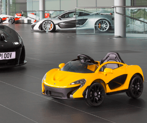 Start your kid on the right track with McLaren's toy supercar