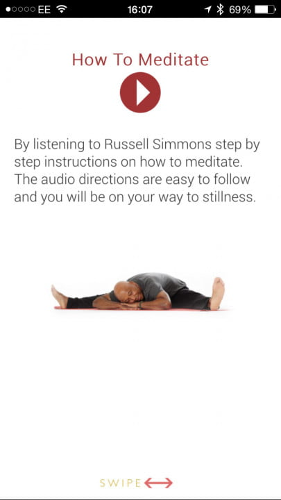 russell simmons meditation made simple app ios how to