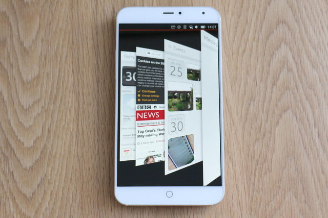 Meizu MX4 with Ubuntu app switcher