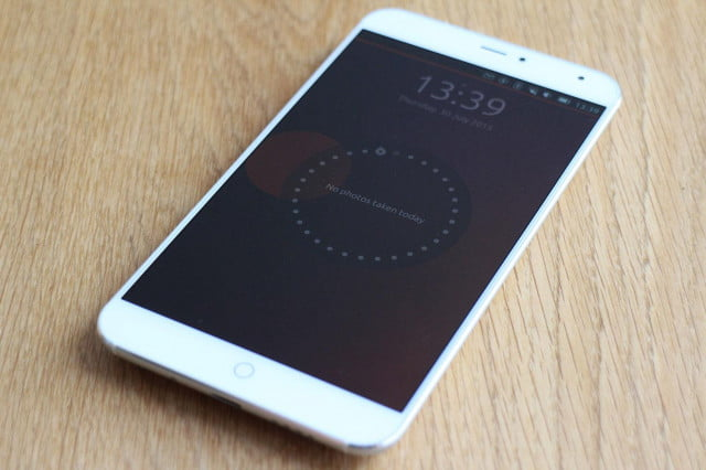 Meizu MX4 with Ubuntu front top angle full