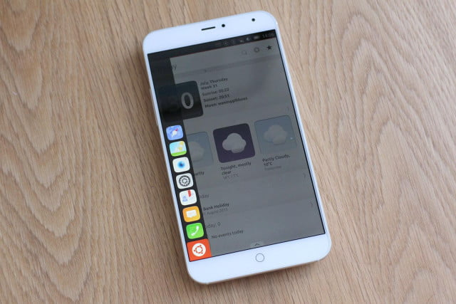 Meizu MX4 with Ubuntu side apps