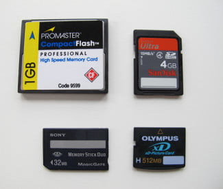 Not long ago, digital cameras utilized various competing formats of flash memory.