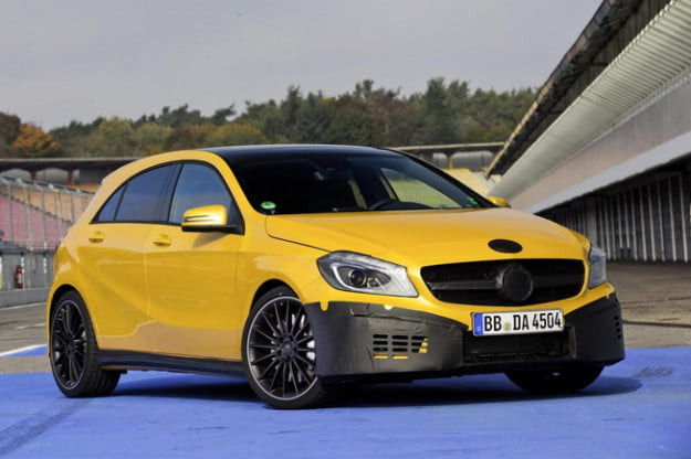 Mercedes-Benz A45 AMG teaser front three quarter