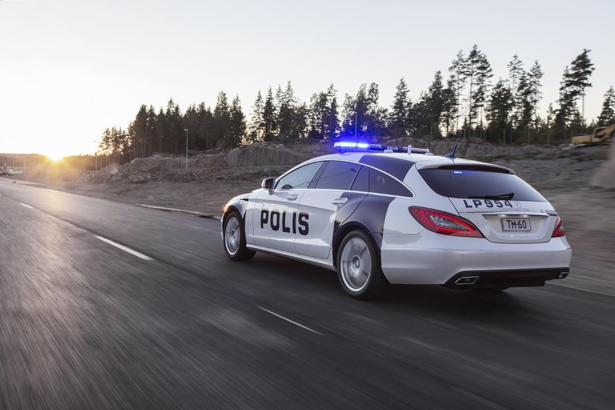 finnish police get mercedes benz cls shooting brake