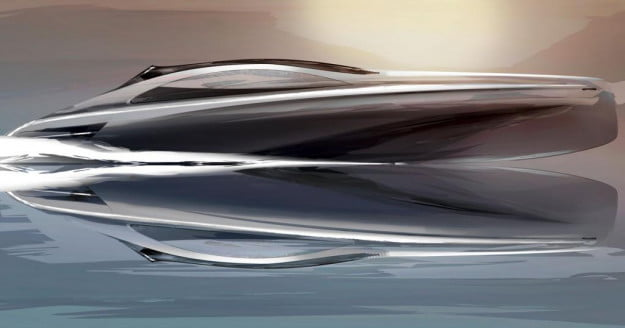 Mercedes-Benz yacht profile view