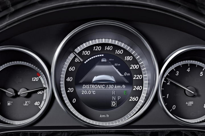 self driving cars far flung future or almost here mercedes benz distronic instrument panel
