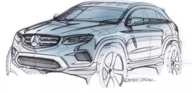 mercedes benz glc class news specs teaser sketch