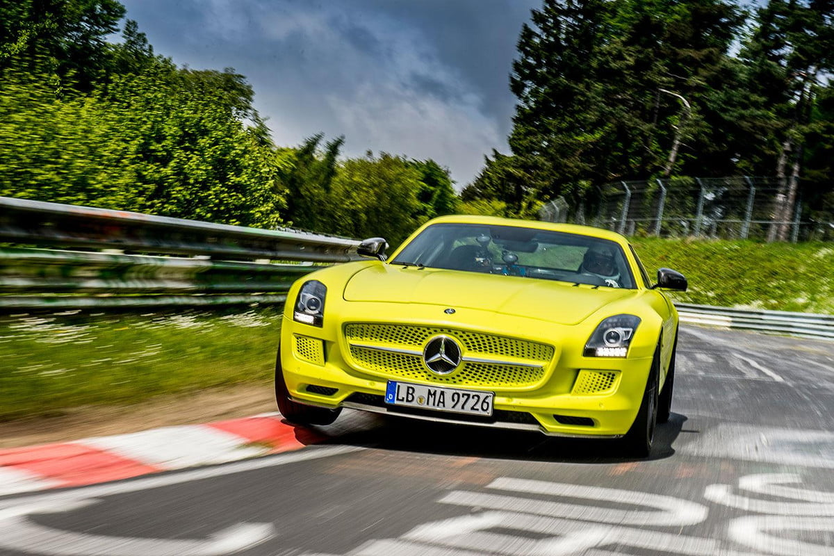 mercedes amg going electric news quotes details benz sls coup  drive