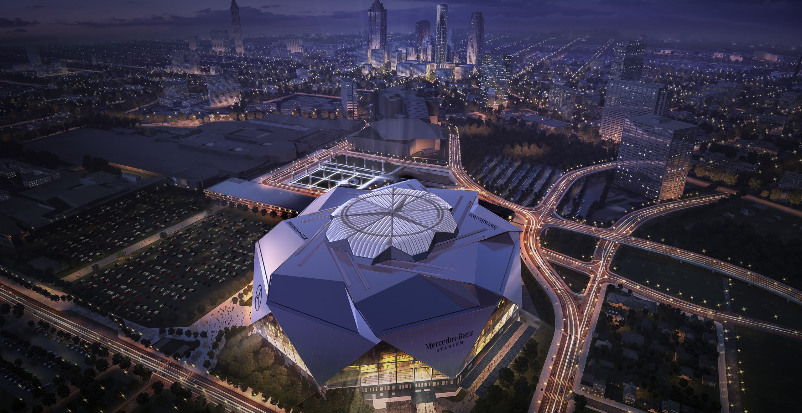 Mercedes-Benz Stadium Renders