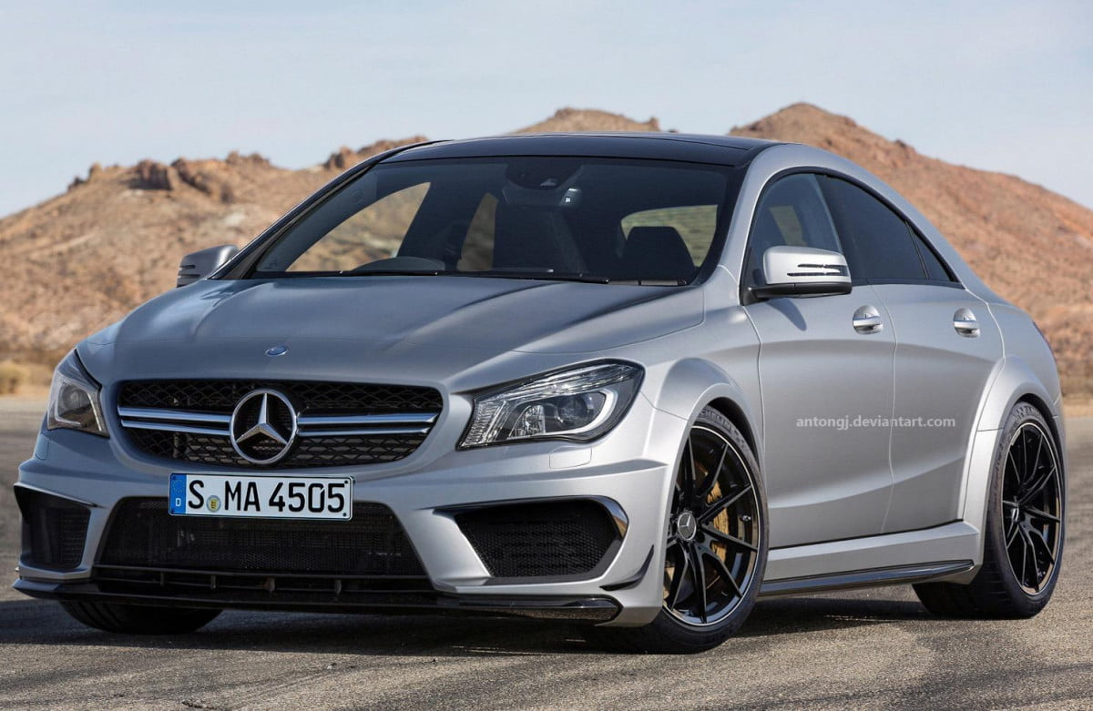 mercedes benz cla  amg goes black in the digital realm edition