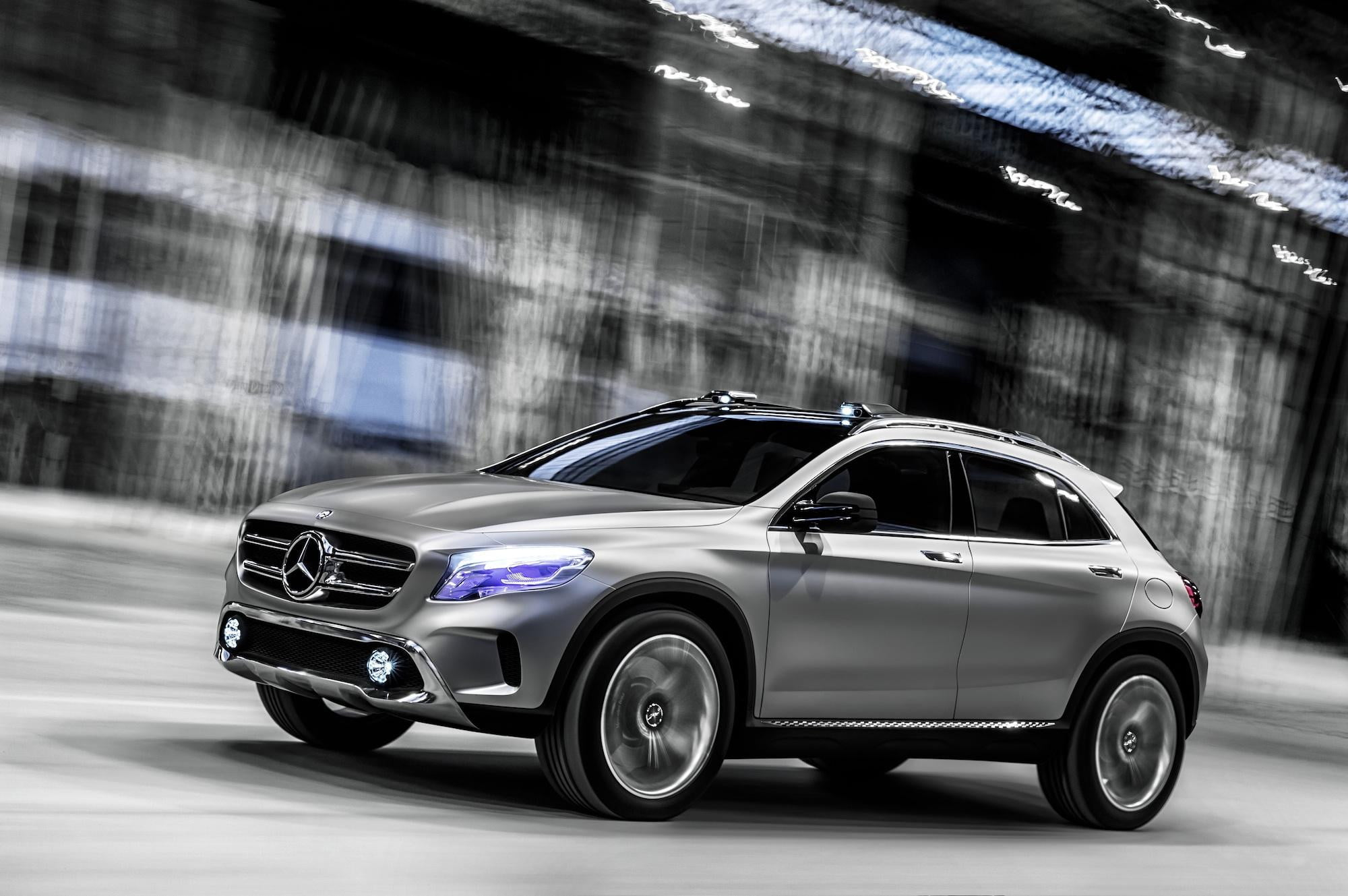 Mercedes benz sanitizes styling of upcoming production gla for Mercedes benz crossover suv