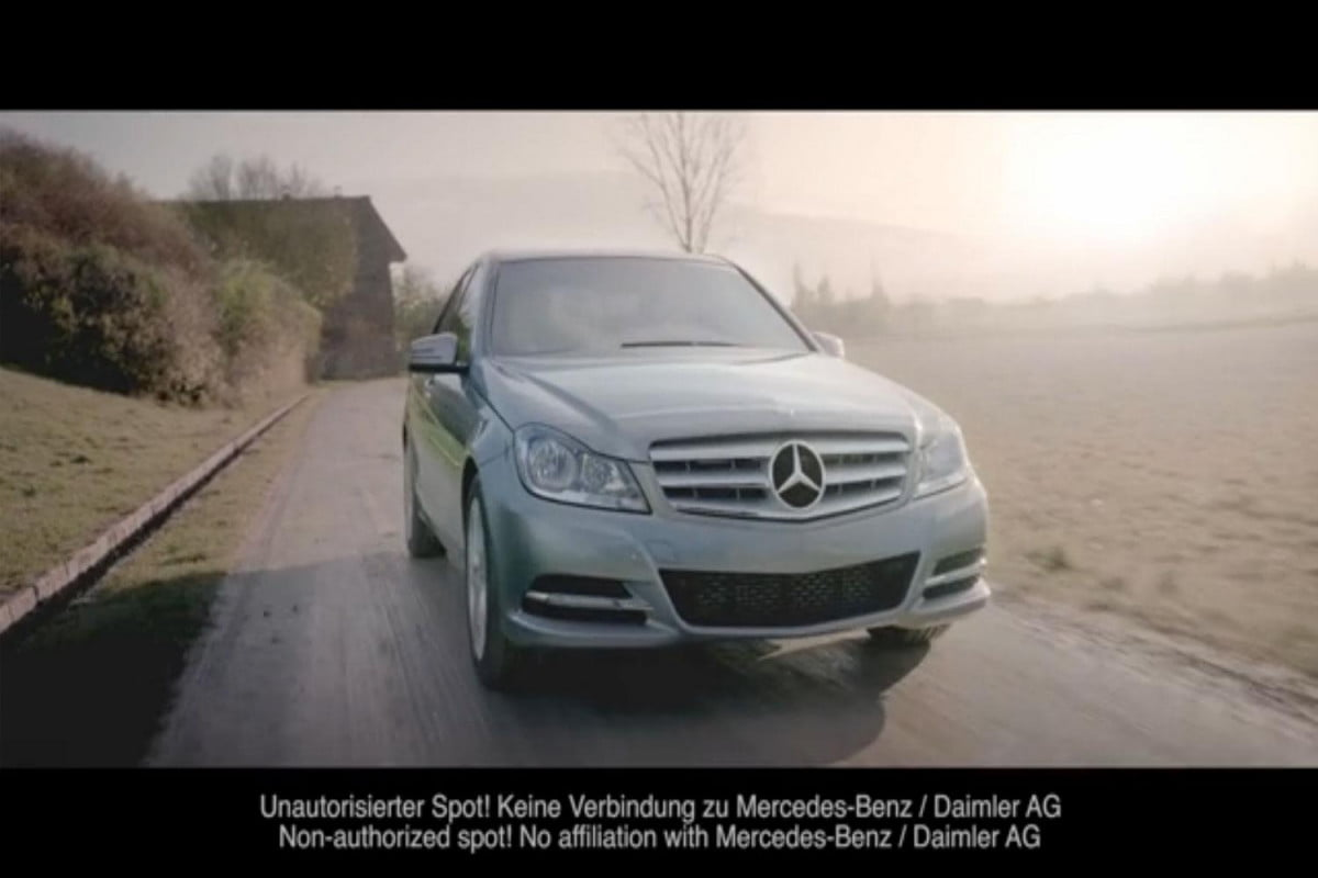fake mercedes benz commercial features hitler being run over ad