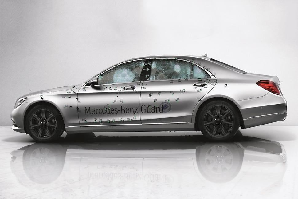 mercedes benz s  guard armored car enters production